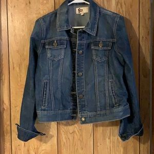 Cute classic style jean jacket size large